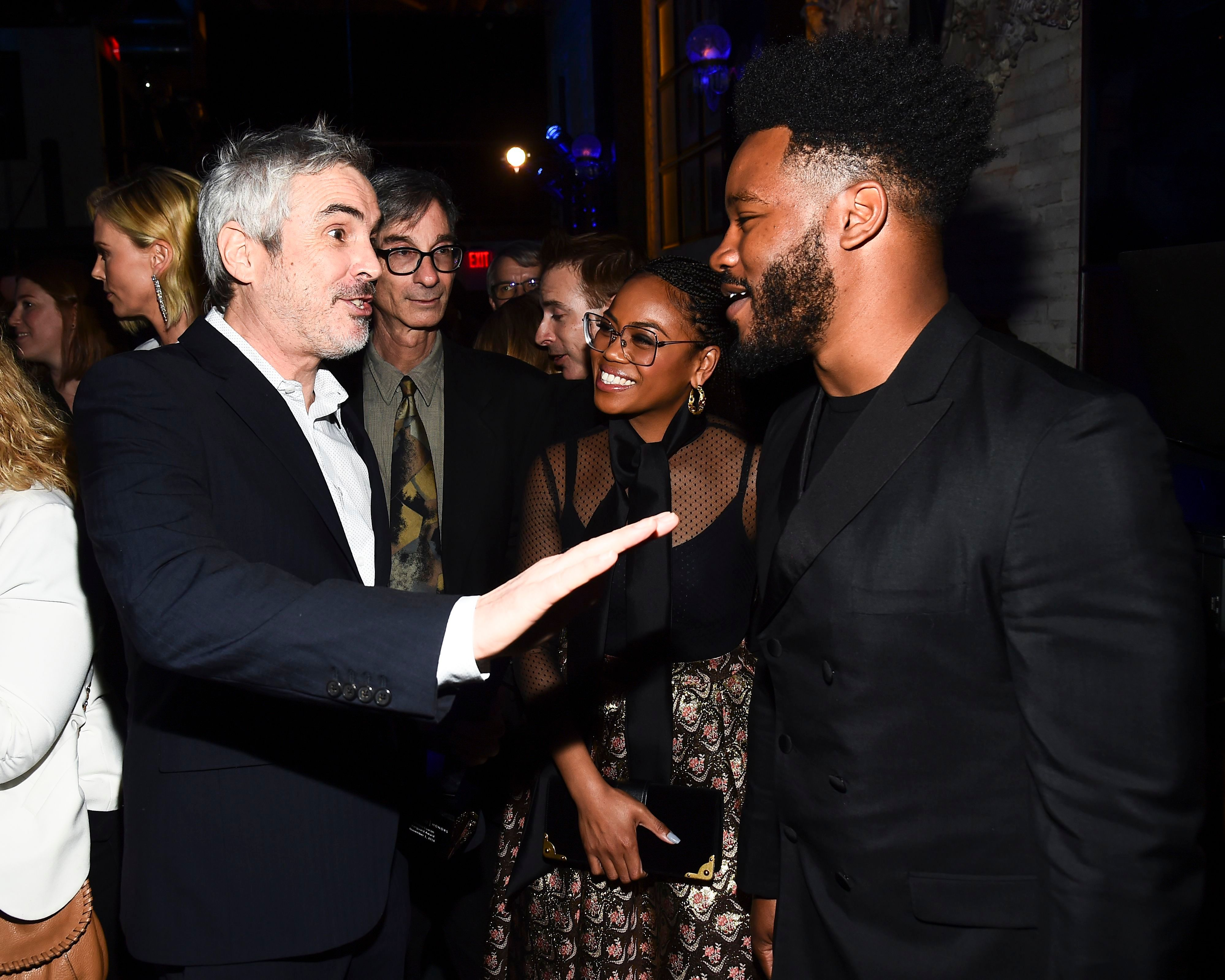 Alfonso Cuaron, Zinzi Evans and Ryan CooglerIndieWire Honors, Inside, Los Angeles, USA - 01 Nov 2018