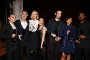 Natalie Portman, Alfonso Cuaron, Charlize Theron, Constance Wu, Bill Hader, Amandla Stenberg and Ryan CooglerIndieWire Honors, Inside, Los Angeles, USA - 01 Nov 2018