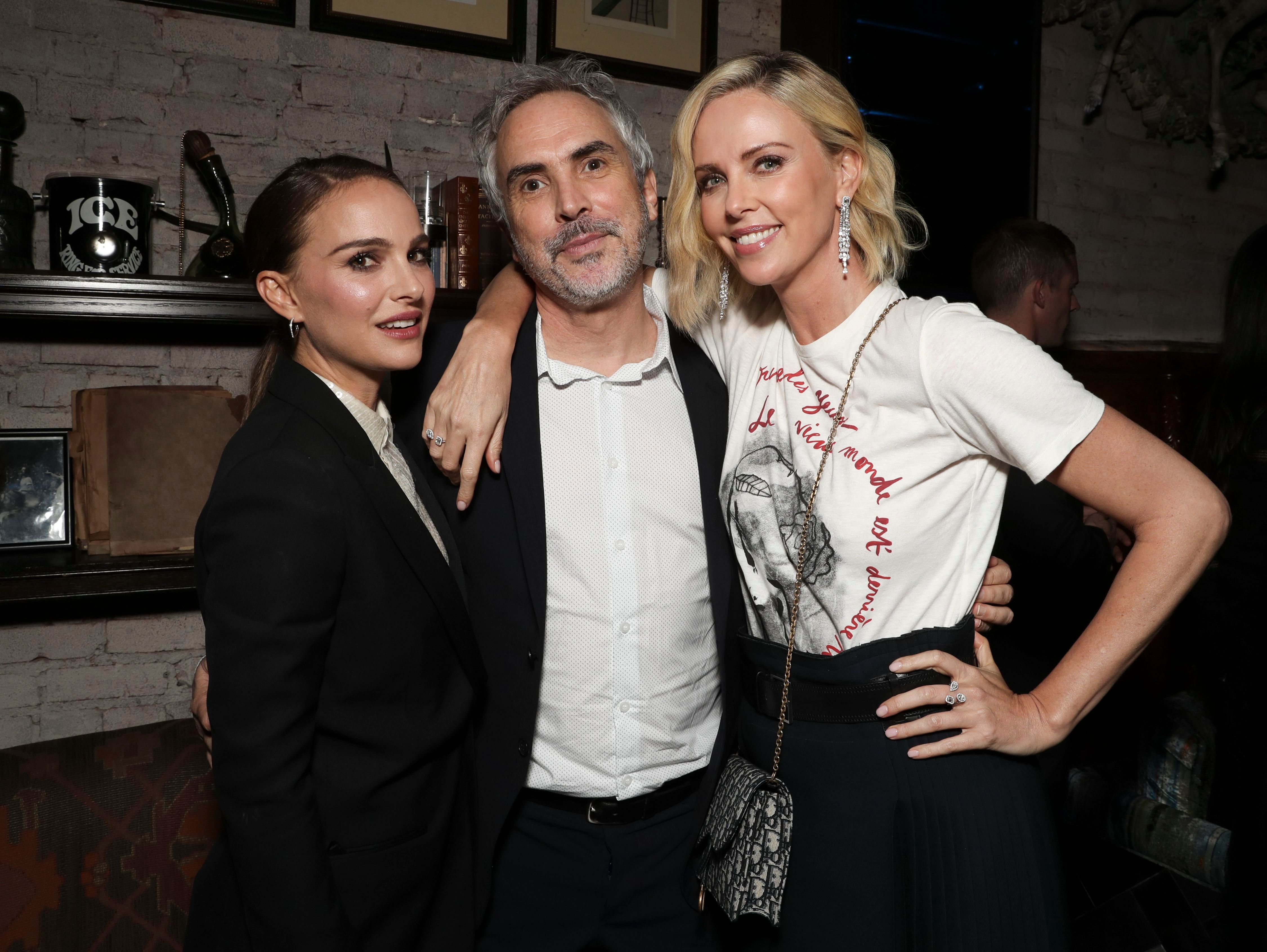 Natalie Portman, Alfonso Cuaron and Charlize TheronIndieWire Honors, Inside, Los Angeles, USA - 01 Nov 2018