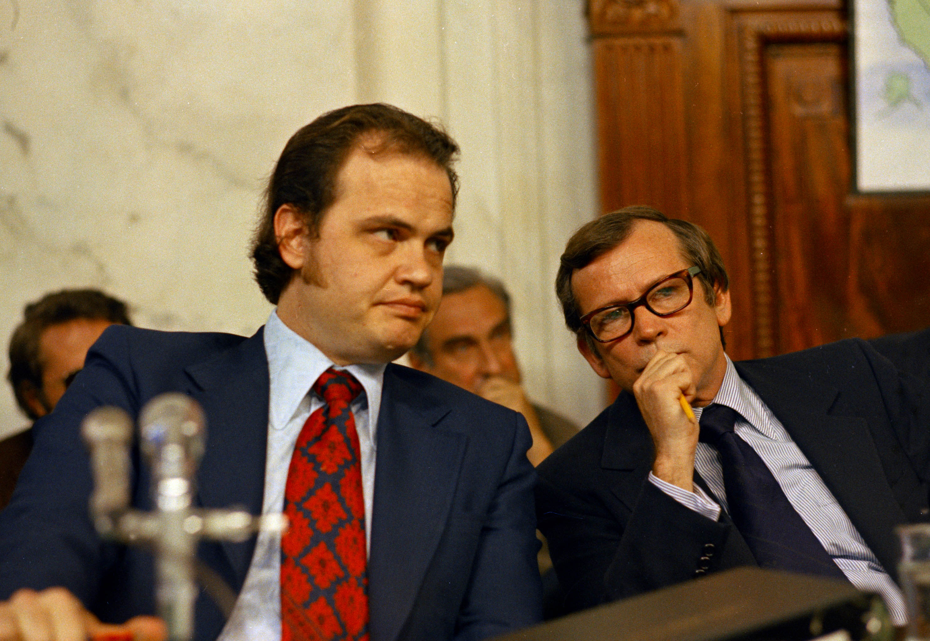 Baker Thompson Sen. Fred D. Thompson, Chief Minority Counsel of the Senate Watergate Committee, is seen with Sen. Howard Baker (R-Tenn.), during the Watergate hearings in WashingtonWatergate Fred Thompson 1973, Washington, USA