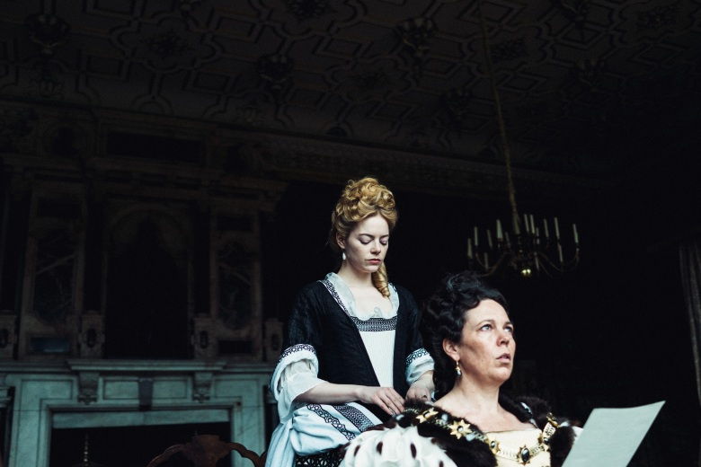 Emma Stone and Olivia Colman in the film THE FAVOURITE. Photo by Yorgos Lanthimos. © 2018 Twentieth Century Fox Film Corporation All Rights Reserved