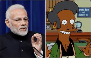 Indian Prime Minister Narendra Modi and Apu