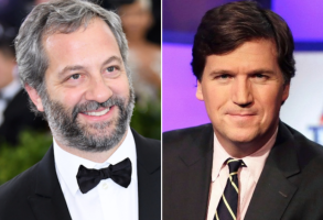 Judd Apatow and Tucker Carlson