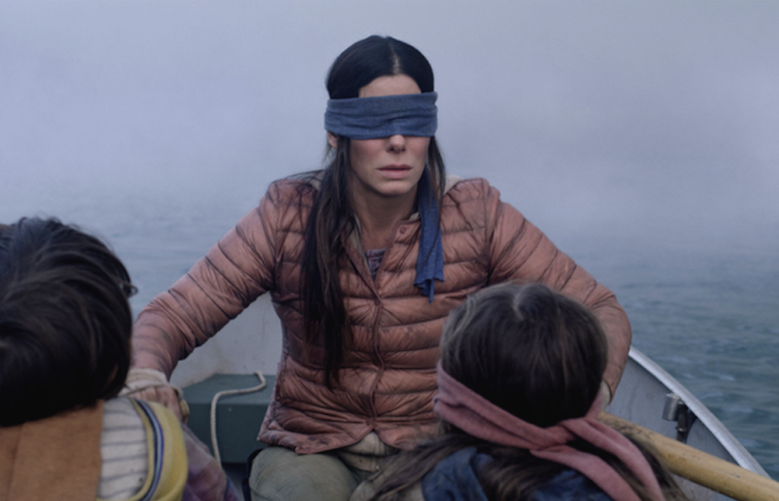 bird box originally showed monsters but the scene was cut indiewire