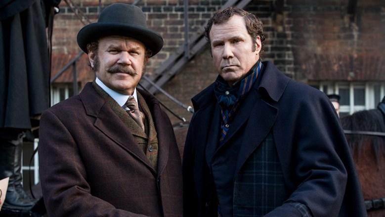 "SHERLOCK HOLMES (Will Ferrell) and WATSON (John C. Reilly) in Columbia. """
