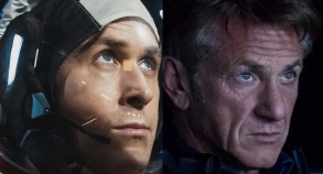 """""""First Man"""" Ryan Gosling and """"The First"""" Sean Penn"""