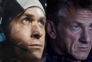"""First Man"" Ryan Gosling and ""The First"" Sean Penn"
