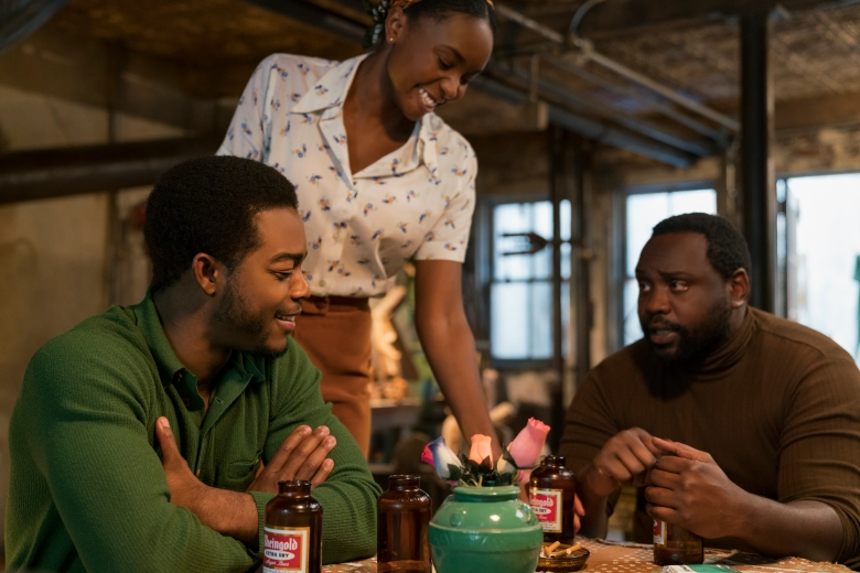 """If Beale Street Could Talk""Stephan James as Fonny, KiKi Layne as Tish, and Brian Tyree Henry as Daniel Carty star in Barry Jenkins' IF BEALE STREET COULD TALK, an Annapurna Pictures release."