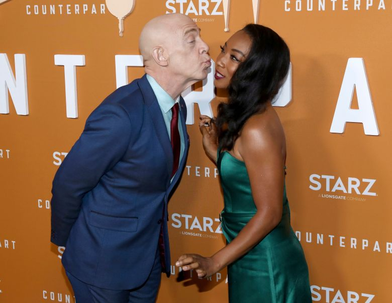 J.K. Simmons and Betty Gabriel