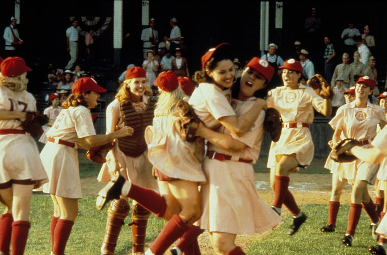 Editorial use only. No book cover usage.Mandatory Credit: Photo by Moviestore/REX/Shutterstock (1540994a) A League Of Their Own, Geena Davis, Madonna, Rosie O'donnell Film and Television