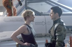Editorial use only. No book cover usage.Mandatory Credit: Photo by Sci-Fi Channel/Kobal/REX/Shutterstock (5886263ae)Katee Sackhoff, Jamie BamberBattlestar Galactica - 2003Director: Michael RymerSci-Fi ChannelUSATelevision