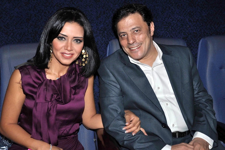 Egyptian Actress Rania Youssef (l) and Egyptian Actor Amr Abdel Gelil (r) As They Pose During the Premiere of the Movie 'Sarkhat Namla' (ant's Scream) in Cairo Egypt 01 June 2011 the Movie Had Been Selected to Be Features at the 2011 Cannes Film Festival It is Seen As One of the First About the 2011 Popular Uprising in Egypt is by Egyptian Director Sameh Abdel Aziz and Written by Tarek Abdel Gelil Egypt CairoEgypt Cinema - Jun 2011