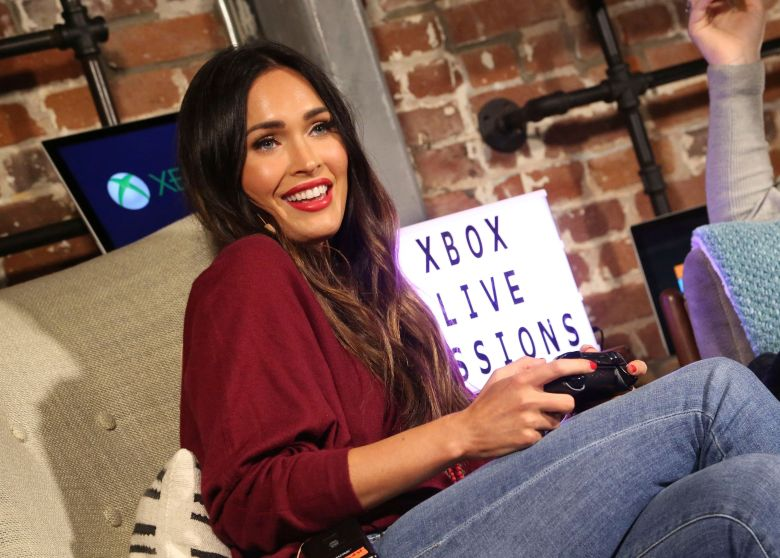Megan Fox at the Dave Bautista and Megan Fox Xbox Live Session at the Microsoft Lounge on in Venice, CalifDave Bautista and Megan Fox Xbox Live Session, Venice, USA - 03 Nov 2017