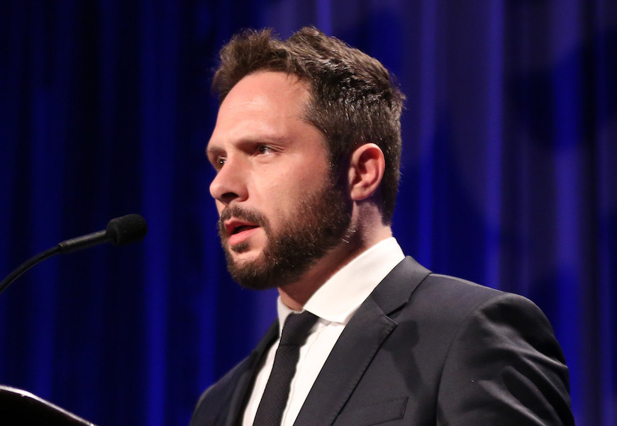Nic Pizzolatto speaks at the PEN Center USA's 25th Annual Literacy Awards Festival at the Beverly Wilshire Hotel, in Beverly Hills, CalifPEN Center 's 25th Annual Literacy Awards Festival, Beverly Hills, USA - 16 Nov 2015