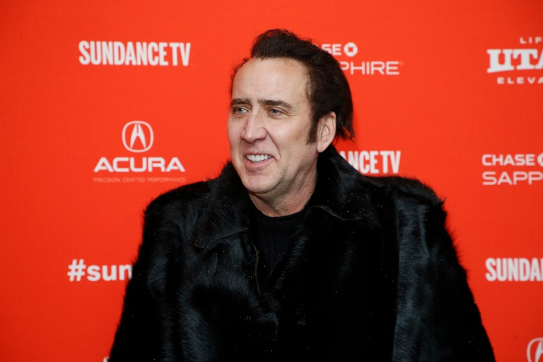 "Nicholas Cage. Actor Nicolas Cage poses at the premiere of ""Mandy"" during the 2018 Sundance Film Festival, in Park City, Utah2018 Sundance Film Festival - ""Mandy"" Premiere, Park City, USA - 19 Jan 2018"