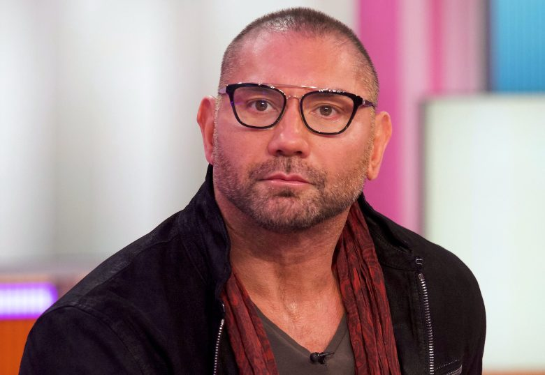Editorial use only. Exclusive - Premium Rates Apply. Call your Account Manager for pricing.Mandatory Credit: Photo by Ken McKay/ITV/REX/Shutterstock (9839000w)Dave Bautista'Good Morning Britain' TV show, London, UK - 31 Aug 2018