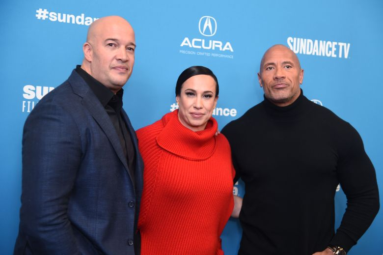 Hiram Garcia, Dany Garcia and Dwayne Johnson'Fighting With My Family' premiere, Arrivals, Sundance Film Festival, Park City, USA - 28 Jan 2019