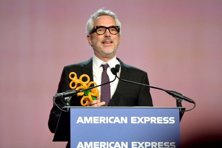 PALM SPRINGS, CA - JANUARY 03: Alfonso Cuaron accepts the Sonny Bono Visionary Award onstage at the 30th Annual Palm Springs International Film Festival Film Awards Gala at Palm Springs Convention Center on January 3, 2019 in Palm Springs, California. (Photo by Matt Winkelmeyer/Getty Images for Palm Springs International Film Festival )