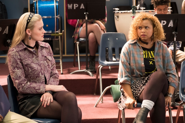 "AJ Michalka and Rachel Crow, ""Schooled"""