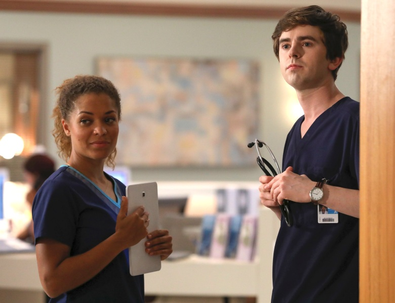 "Antonia Thomas and Freddie Highmore, ""The Good Doctor"""