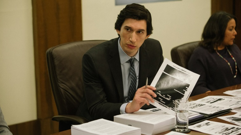 Adam Driver appears in The Report by Scott Z. Burns, an official selection of the Premieres program at the 2019 Sundance Film Festival. Courtesy of Sundance Institute | photo by Atsushi Nishijima.All photos are copyrighted and may be used by press only for the purpose of news or editorial coverage of Sundance Institute programs. Photos must be accompanied by a credit to the photographer and/or 'Courtesy of Sundance Institute.' Unauthorized use, alteration, reproduction or sale of logos and/or photos is strictly prohibited.