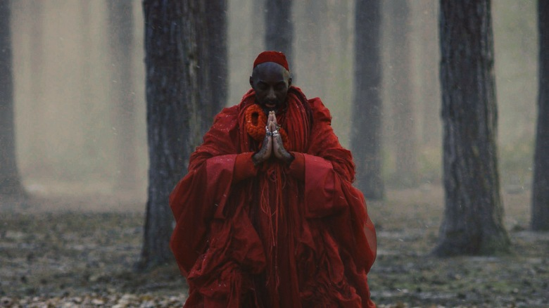 A still from As Told To G/D Thyself by Terence Nance, Marc Thomas, Kamasi Washington and Bradford Young, an official selection of the Shorts Program at the 2019 Sundance Film Festival. Courtesy of Sundance Institute. All photos are copyrighted and may be used by press only for the purpose of news or editorial coverage of Sundance Institute programs. Photos must be accompanied by a credit to the photographer and/or 'Courtesy of Sundance Institute.' Unauthorized use, alteration, reproduction or sale of logos and/or photos is strictly prohibited.