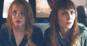 Sophie Nélisse as Zoe Tanner and Noomi Rapace as Sam Carlson in Close, directed by Vicky Jewson.