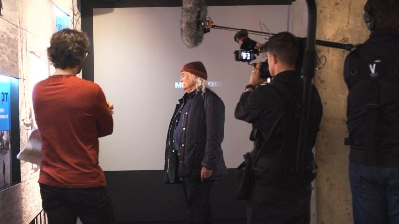 Director AJ Easton directing David Crosby at Kent State