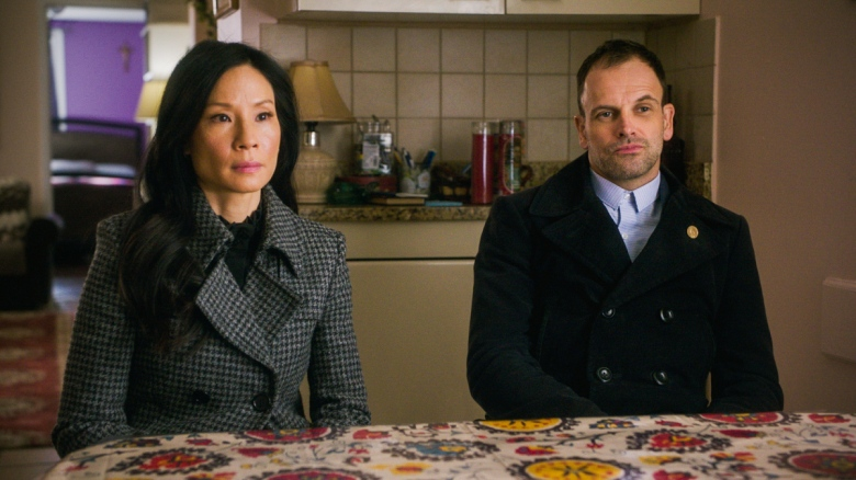 "Lucy Liu and Jonny Lee Miller, ""Elementary"""