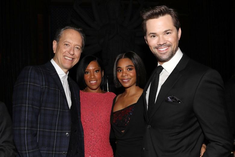 - New York, NY - 1/7/19 - New York Film Critics Circle Awards 2018 - Reception. -Pictured: Richard E. Grant, Regina King, Regina Hall and Andrew Rannells -Photo by: Kristina Bumphrey/StarPix -Location: Tao Downtown