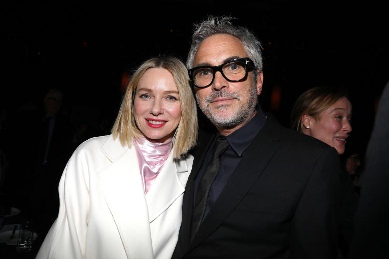 - New York, NY - 1/7/19 - New York Film Critics Circle Awards 2018 - Reception. -Pictured: Naomi Watts and Alfonso Cuar—n -Photo by: Kristina Bumphrey/StarPix -Location: Tao Downtown