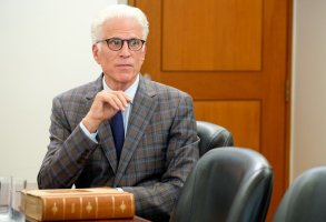 "THE GOOD PLACE -- ""Chidi Sees the Time-Knife"" Episode 312 -- Pictured: Ted Danson as Michael -- (Photo by: Colleen Hayes/NBC)"