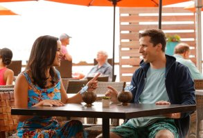 "BROOKLYN NINE-NINE -- ""Honeymoon"" Episode 601 -- Pictured: (l-r) Melissa Fumero as Amy Santiago, Andy Samberg as Jake Peralta Brooklyn 99"