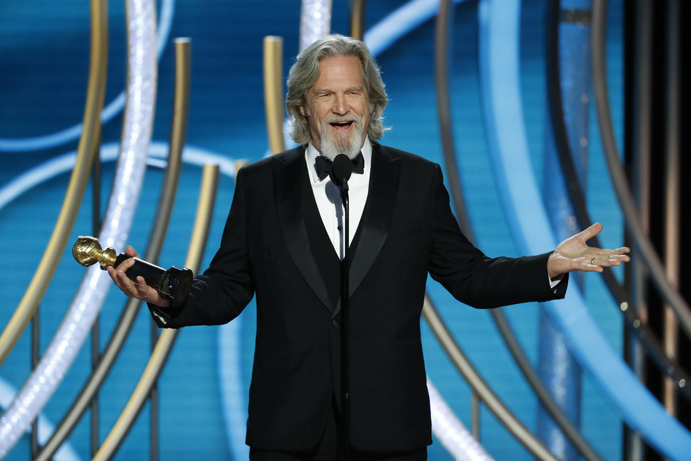 76th ANNUAL GOLDEN GLOBE AWARDS -- Pictured: Jeff Bridges, winner of Cecil B. Demille Award at the 76th Annual Golden Globe Awards held at the Beverly Hilton Hotel on January 6, 2019 -- (Photo by: Paul Drinkwater/NBC)