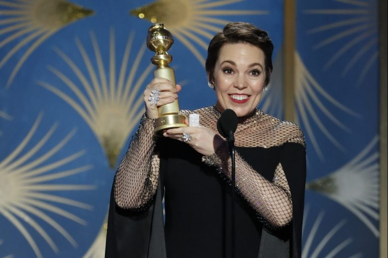 76th ANNUAL GOLDEN GLOBE AWARDS -- Pictured: Olivia Colman, winner of Best Actress - Motion Picture, Musical or Comedy at the 76th Annual Golden Globe Awards held at the Beverly Hilton Hotel on January 6, 2019 -- (Photo by: Paul Drinkwater/NBC)