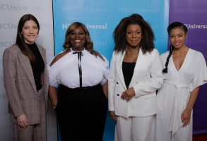 "NBCUNIVERSAL EVENTS -- NBCUniversal Press Tour, January 2019 --  ""NBC's Women of Drama""  -- Pictured: (l-r)  Jennifer Carpenter, ""The Enemy Within""; Retta, ""Good Girls"", Lorraine Toussaint, ""The Village""; Susan Kelechi Watson, ""This Is Us"" -- (Photo by: Chris Haston/NBCUniversal)"