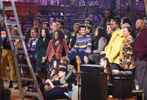 RENT: The cast behind the scenes in RENT airing Sunday, Jan. 27 (8:00-11:00 PM ET LIVE/PT TAPE-DELAYED) on FOX. ©2019 Fox Broadcasting Co. CR: Ray Mickshaw/FOX