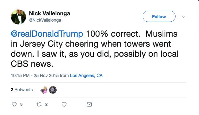 Green Book's Nick Vallelonga Supports Trump Claim Muslims Cheered 9