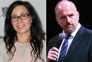 Janeane Garofalo and Louis C.K.