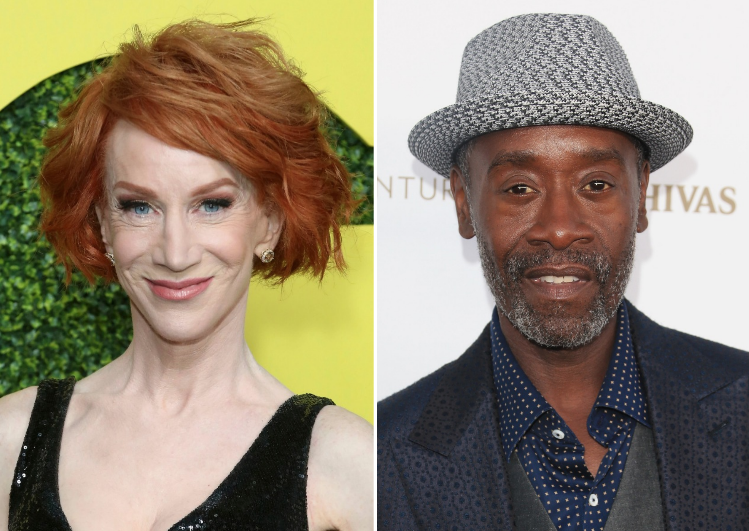 Kathy Griffin and Don Cheadle