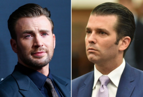 Chris Evans and Donald Trump Jr.