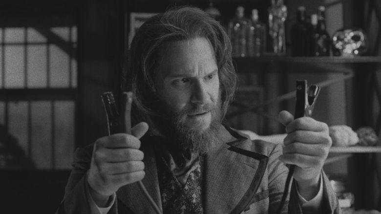 "Seth Rogen as Dr. Frankenstein in ""Drunk History."""