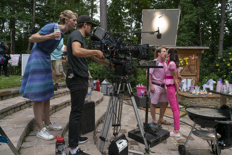 Behind the scenes of shooting