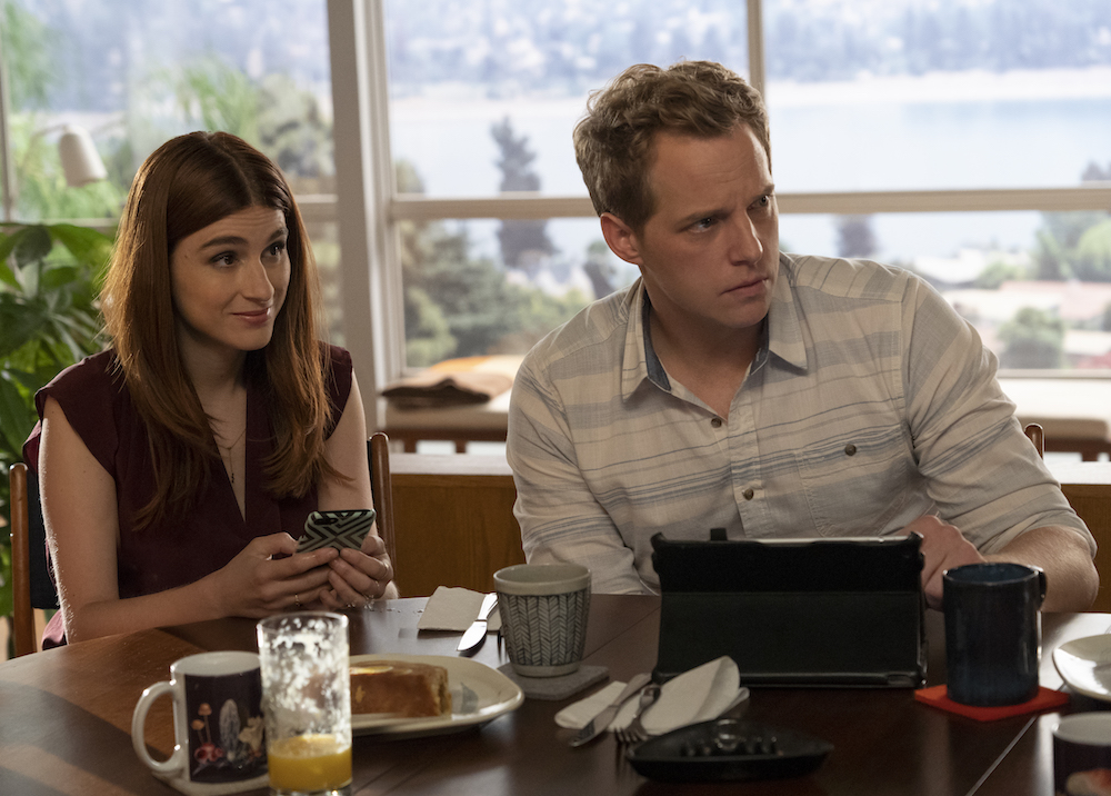 "YOU'RE THE WORST -- ""The Pin In My Grenade"" - Season 5, Episode 2 (Airs January 16, 10:00 pm e/p) Pictured (l-r): Aya Cash as Gretchen, Chris Geere as Jimmy. CR: Byron Cohen/FXX"