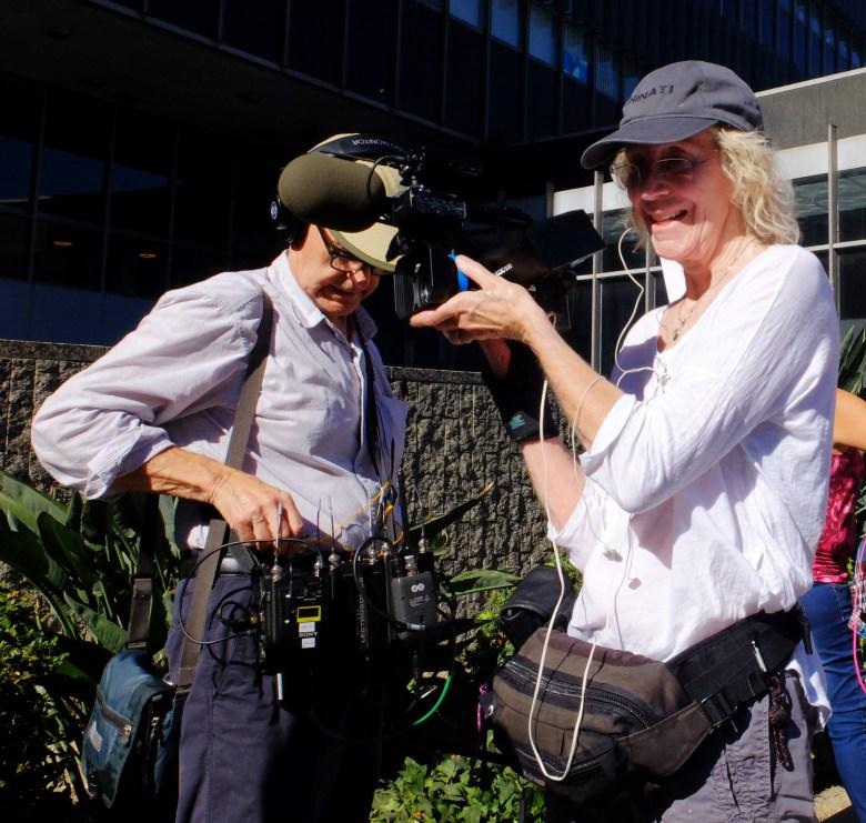 """Bedlam"" DoP Joan Churchill and sound recordist Alan Barker"