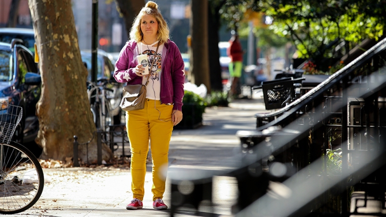 Jillian Bell appears in Brittany Runs A Marathon by Paul Downs Colaizzo, an official selection of the Shorts Programs at the 2019 Sundance Film Festival. Courtesy of Sundance Institute | photo by Jon Pack. All photos are copyrighted and may be used by press only for the purpose of news or editorial coverage of Sundance Institute programs. Photos must be accompanied by a credit to the photographer and/or 'Courtesy of Sundance Institute.' Unauthorized use, alteration, reproduction or sale of logos and/or photos is strictly prohibited.
