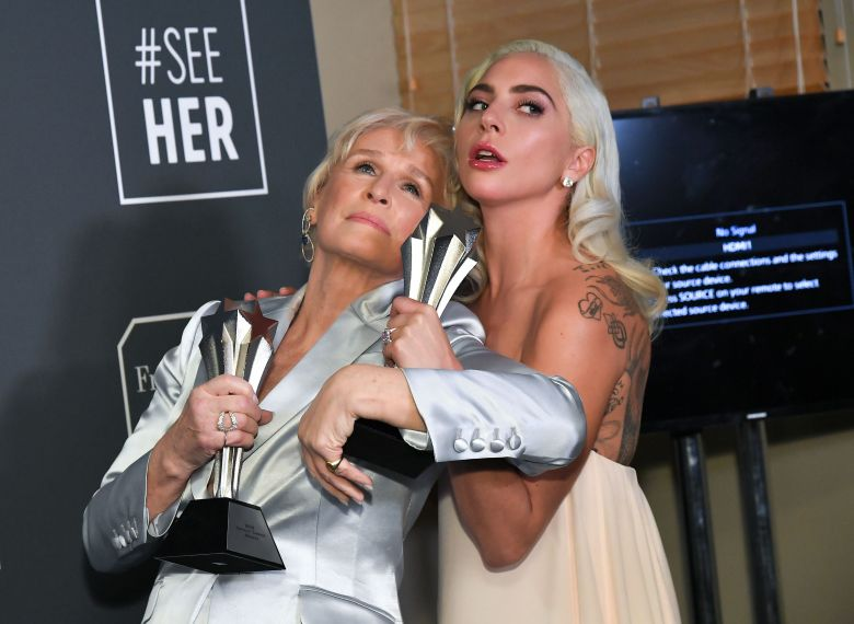 Glenn Close and Lady Gaga24th Annual Critics' Choice Awards, Press Room, Barker Hanger, Los Angeles, USA - 13 Jan 2019