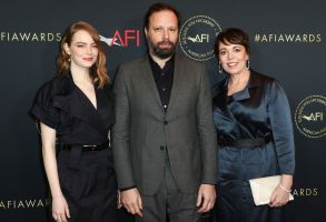 Emma Stone, Yorgos Lanthimos and Olivia ColmanAFI Awards Luncheon, Los Angeles, USA - 4 Jan 2019
