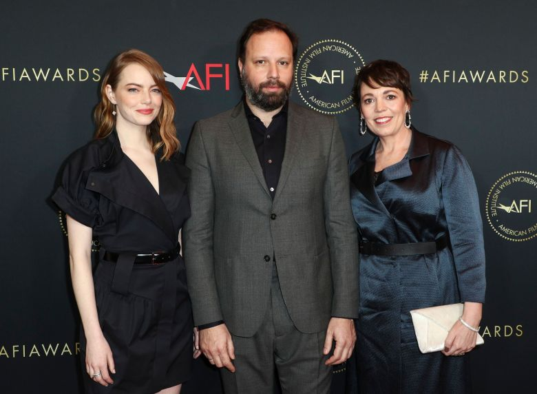 Emma Stone, Yorgos Lanthimos and Olivia ColmanAFI Awards Luncheon, Los Angeles, USA - 4 Jan 2019