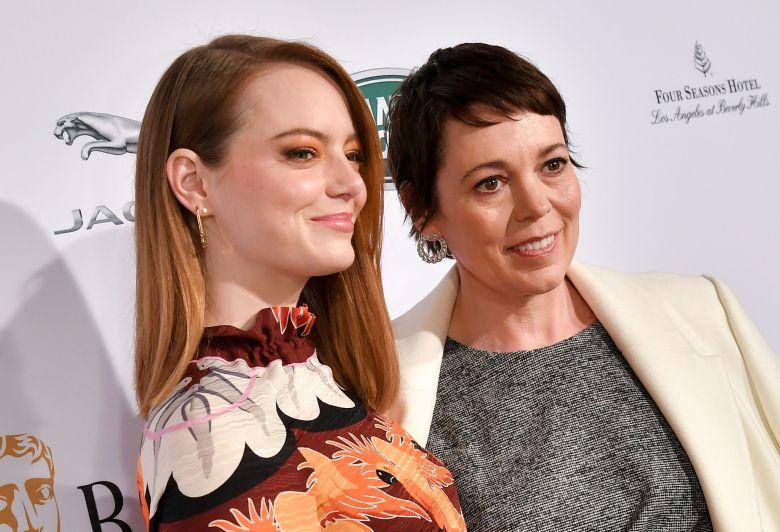 Emma Stone and Olivia ColmanBAFTA Tea